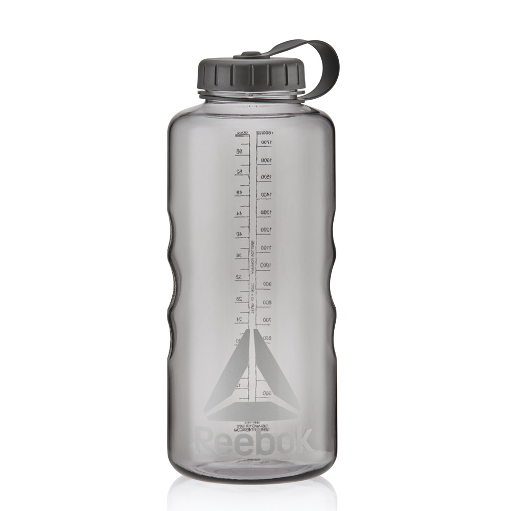 Reebok clear black 1.8l water bottle