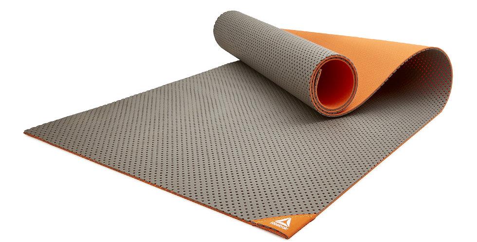 Reebok orange and grey fitness mat