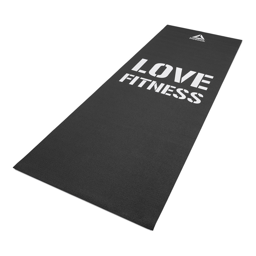 Reebok 'Love Fitness' Black exercise mat