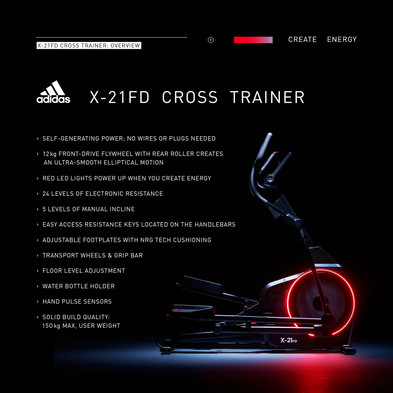 adidas X-21FD Cross Trainer Overview