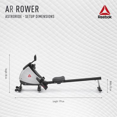 Reebok AR Rower Setup Dimensions