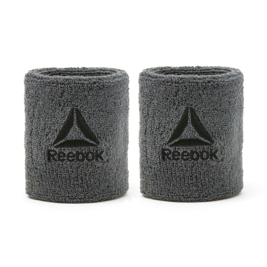 Reebok Grey Sports Wrist Sweatbands
