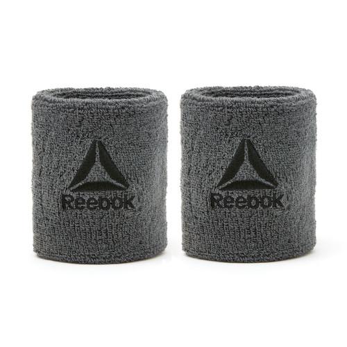 Reebok Grey Sports Wrist Sweatbands