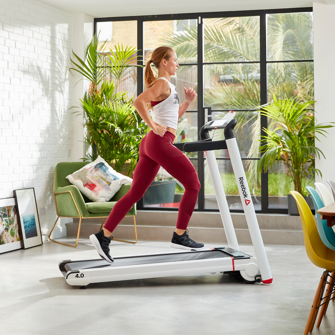 Reebok i-Run 4.0 White Folding Treadmill