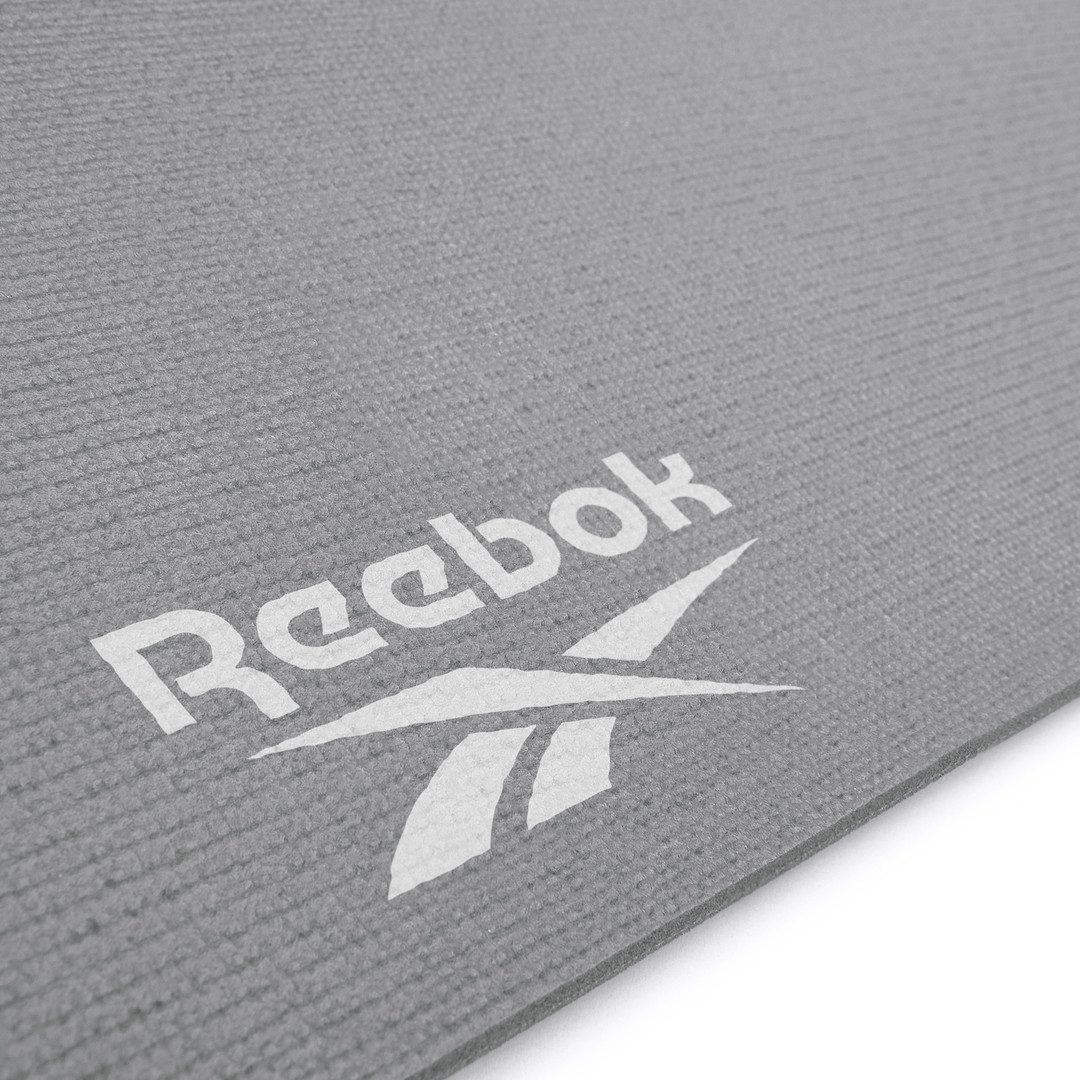 Reebok 4mm grey YoGa stripes patterned yoga mat