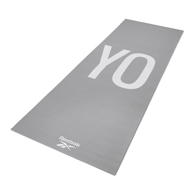 Reebok 4mm grey YoGa stripes patterned yoga mat