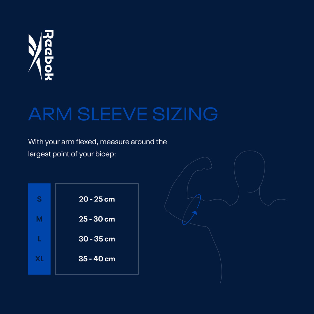 Reebok Arm Sleeves Sizing Guide
