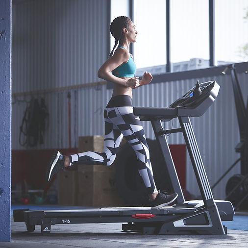 adidas T-16 treadmill side view