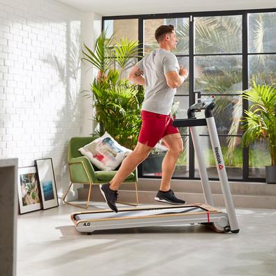 Reebok i-Run 4.0 Silver and Wood Effect Treadmill