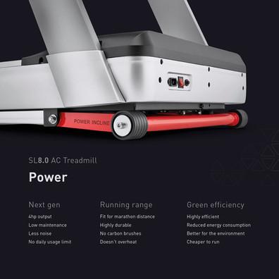 sl8.0 treadmill ac power