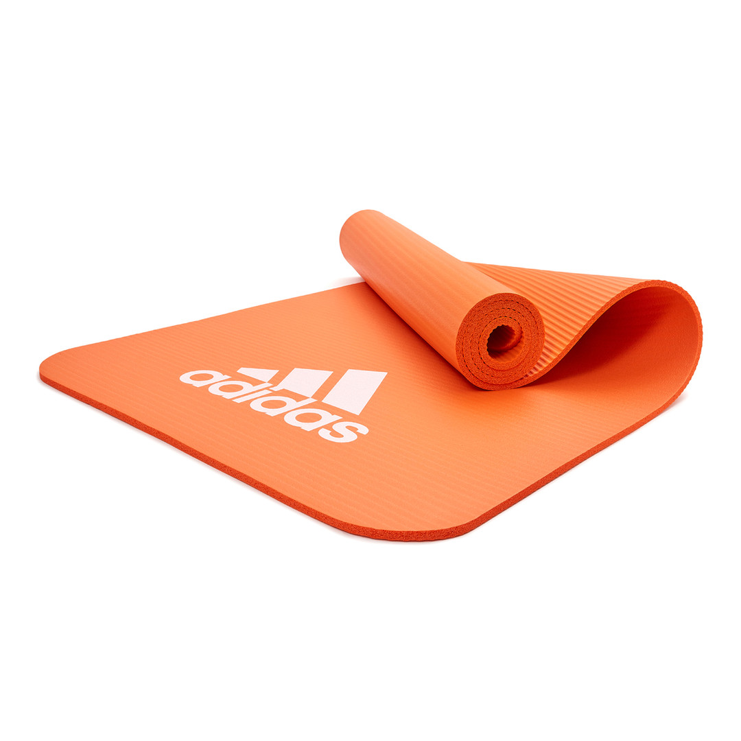 adidas orange fitness mat