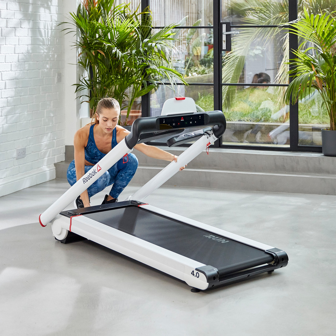 Reebok iRun 4 White Folding Treadmill