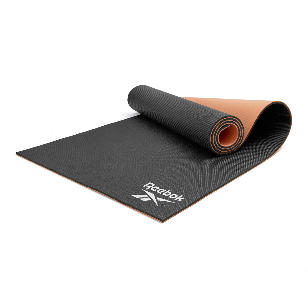 Reebok 6mm black and coral yoga mat
