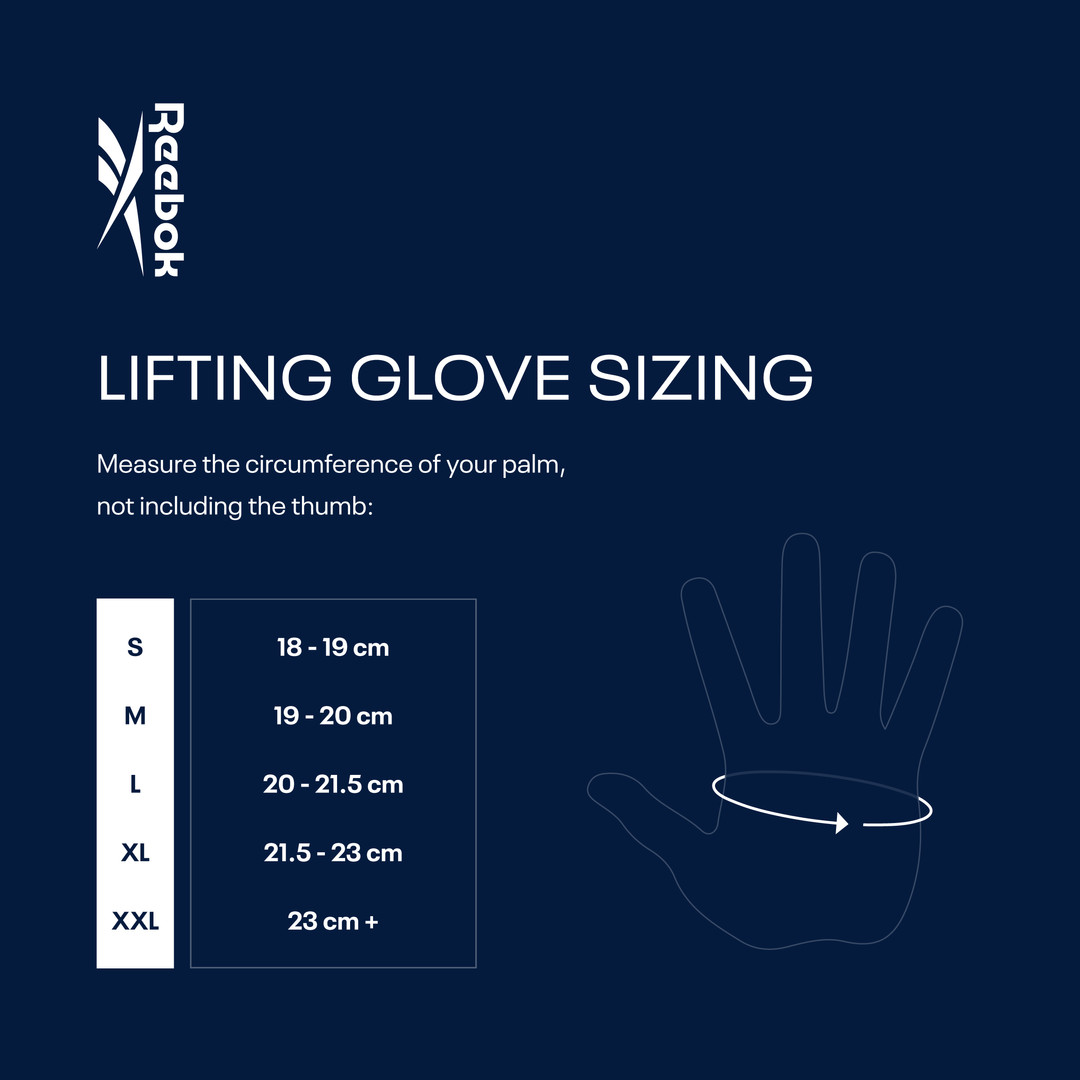 Reebok Lifting Gloves Sizing Chart