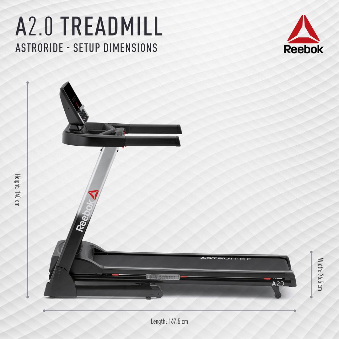 A2.0 Treadmill Setup Dimensions