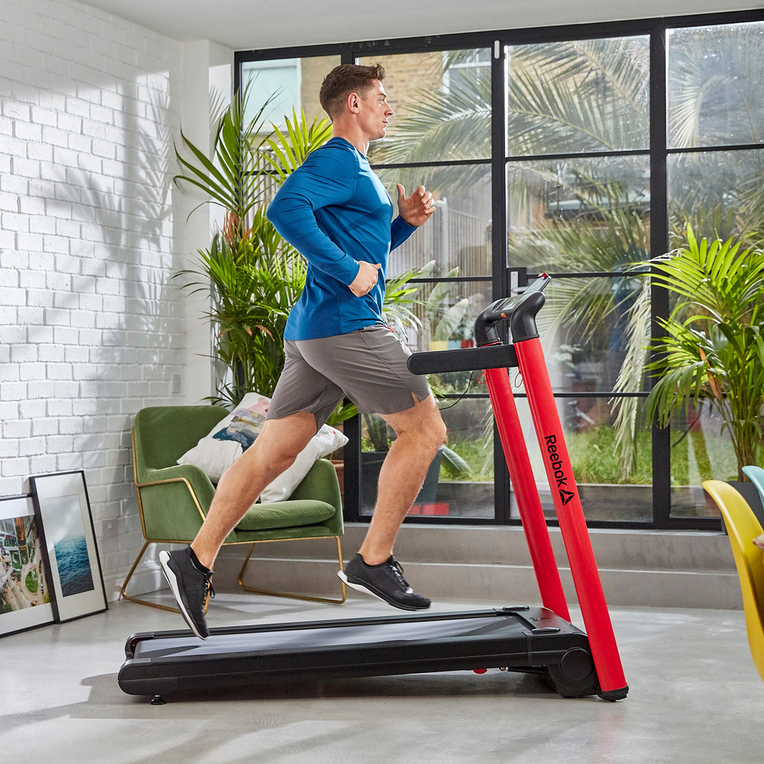 Reebok i-Run 4 Red Folding Treadmill