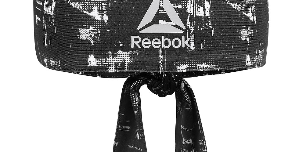 Reebok Strength Training Black and White Tie-back Headband
