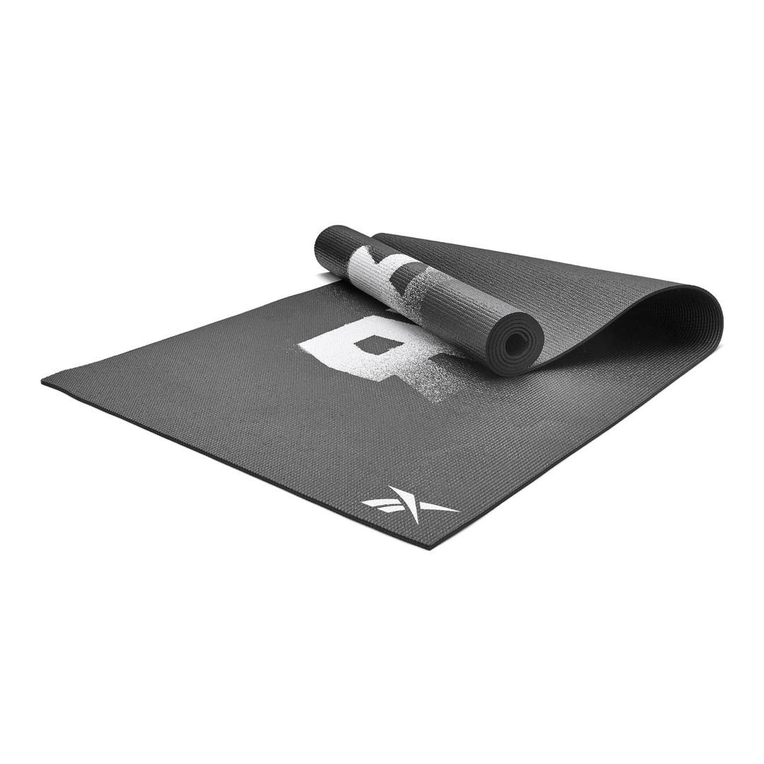 Reebok 4mm black graphic yoga mat