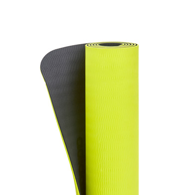 adidas 6mm double sided yellow yoga mat