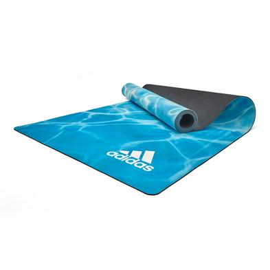 adidas 3.2mm Natural rubber yoga mat - water pattern
