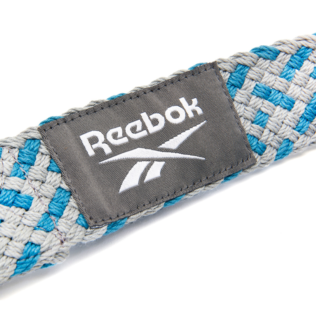 Reebok grey and teal premium yoga strap