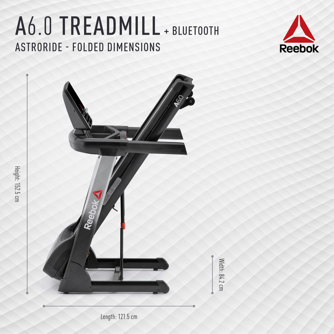 Reebok A6.0 Treadmill Folded Dimensions