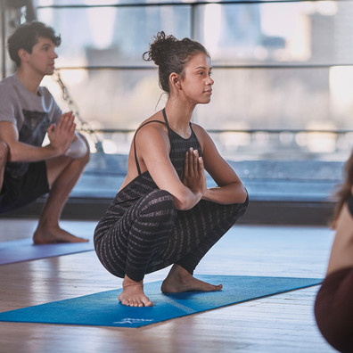 Reebok 6mm blue and green yoga mat