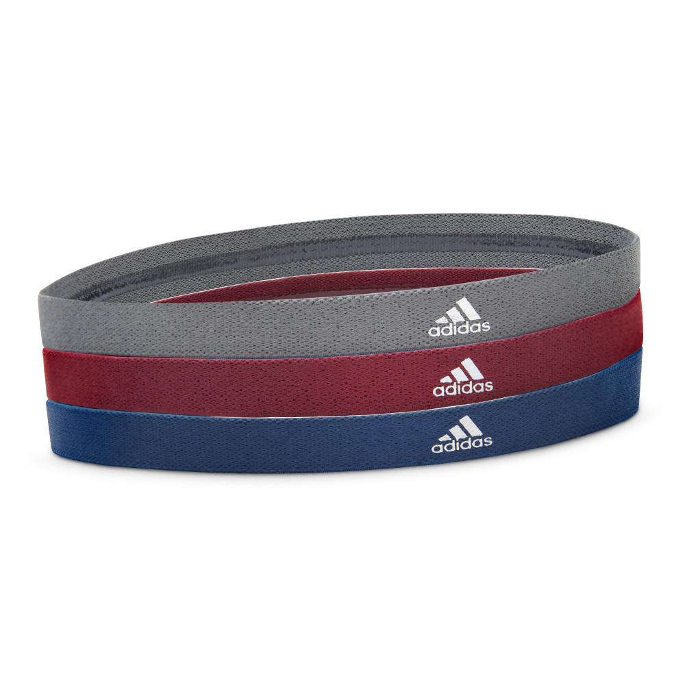 Sports Hairbands - Metallic grey, burgundy and blue