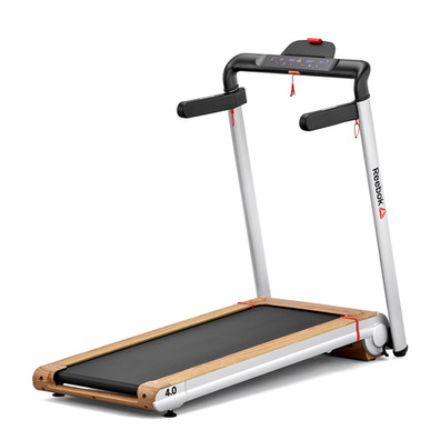 i-Run 4.0 Silver and Wood Effect Compact Treadmill