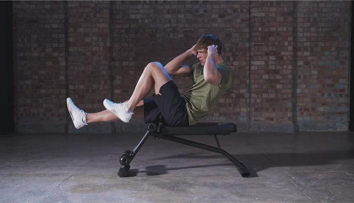 adidas Ab Bench Bicycle Workout