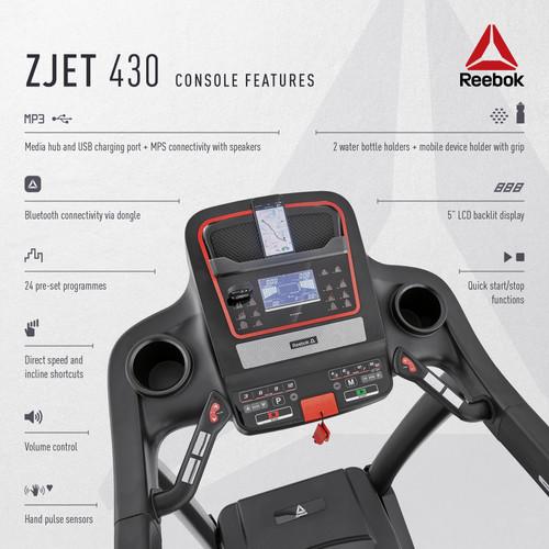 Reebok ZJET 430 Treadmill Console