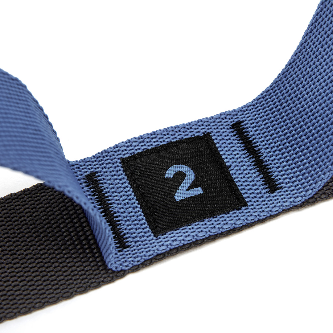 adidas blue and black stretch assist band