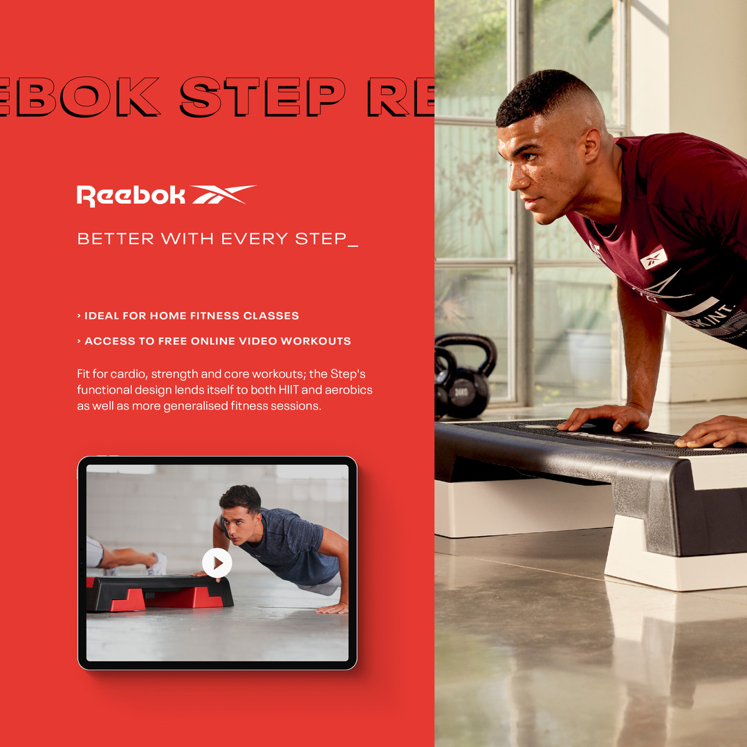 Home workouts with the Reebok step