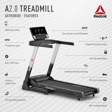 A2.0 Treadmill Features