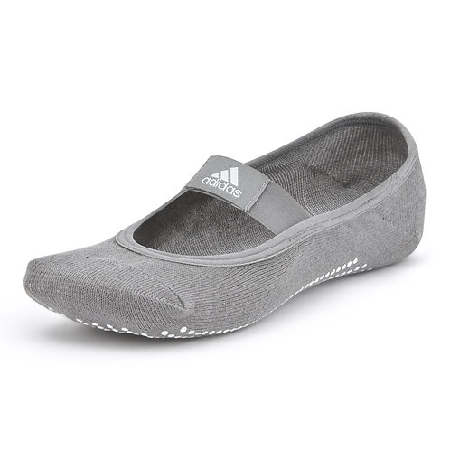 adidas grey yoga socks with grippy sole