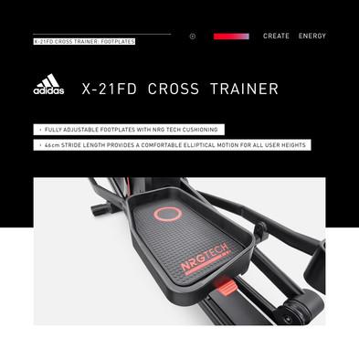 adidas X-21FD Cross Trainer Footplates
