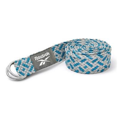 Reebok grey and teal premium yoga strap