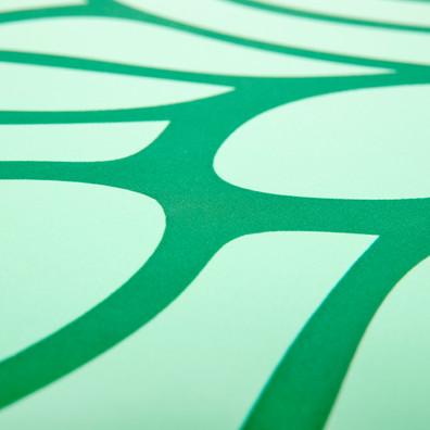 Reebok green mandala natural rubber yoga mat