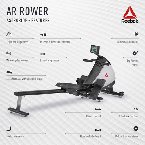 Reebok AR Rower Features