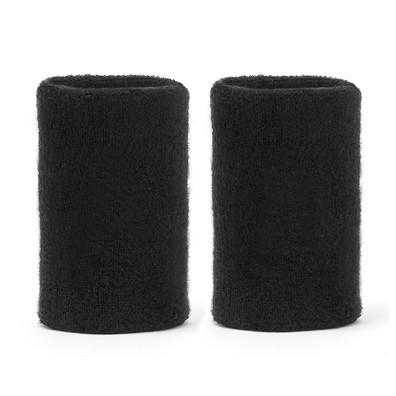 Reebok Black Long Sports Wristbands