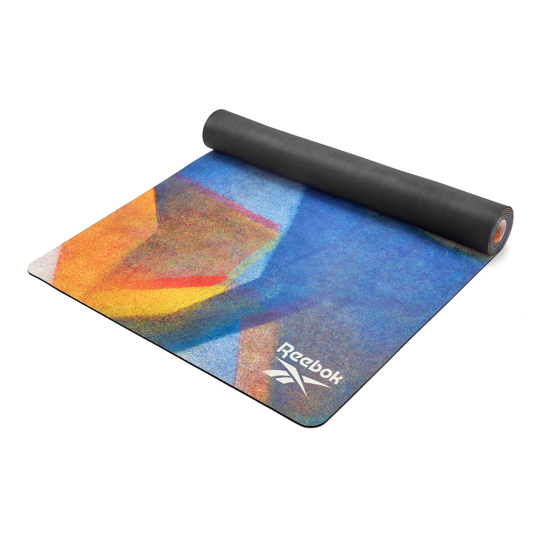 Reebok natural rubber patterned yoga mat