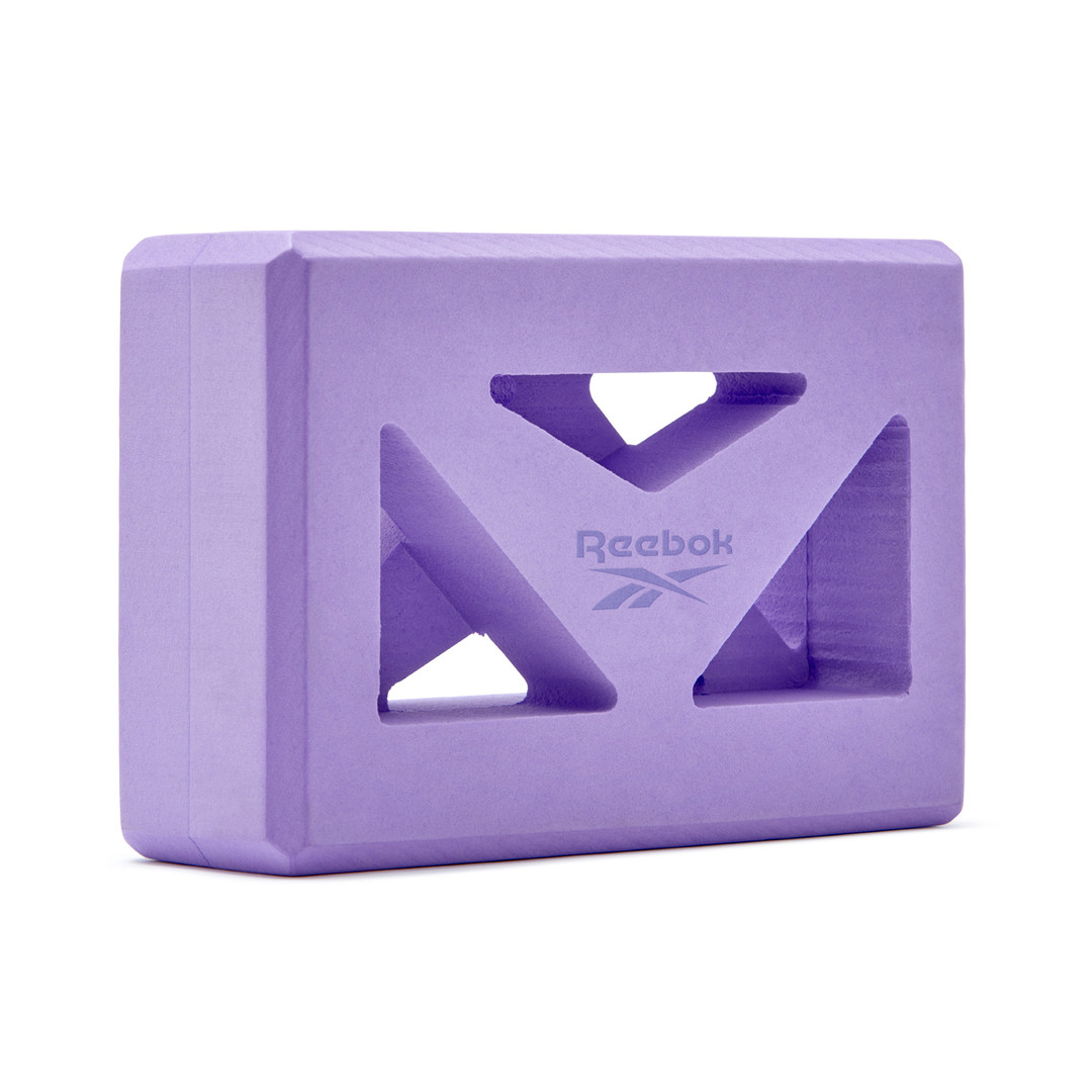 Reebok purple shaped yoga block