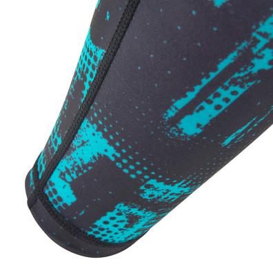 Reebok black and teal geocast calf sleeves