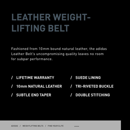 adidas leather weightlifting belt specs
