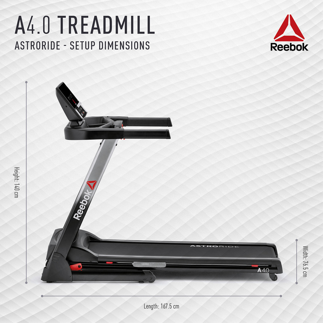 Reebok A4.0 Treadmill Dimensions