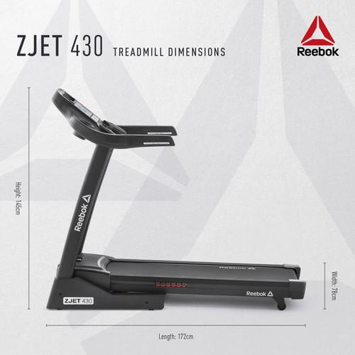 Reebok ZJET 430 Treadmill Setup Dimensions