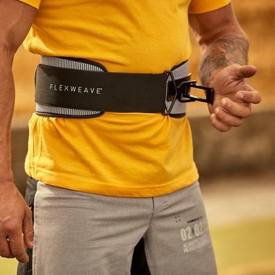Flexweave Power Weightlifting Belt Black and White