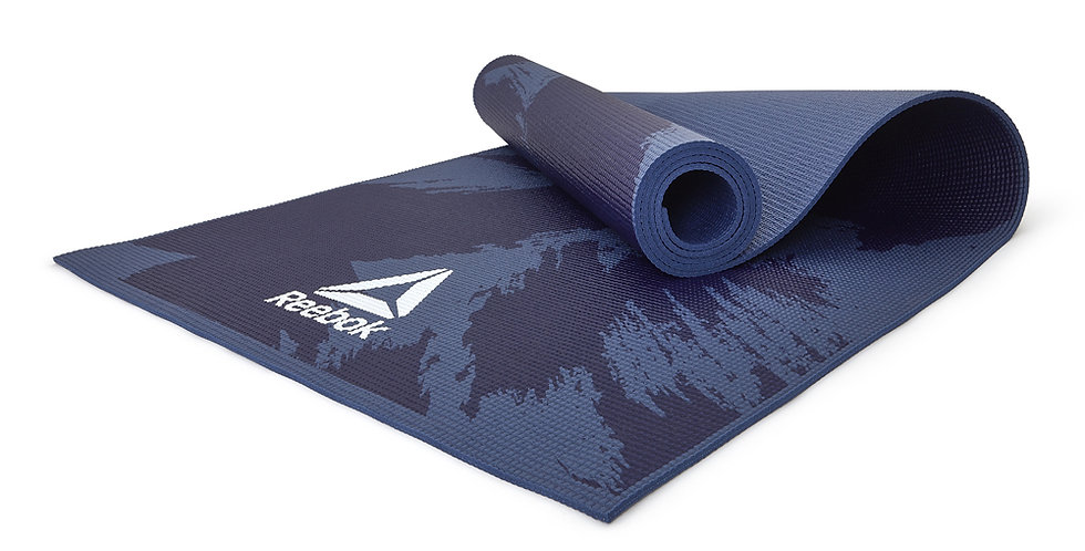 Reebok 4mm Blue Brush Strokes Yoga Mat