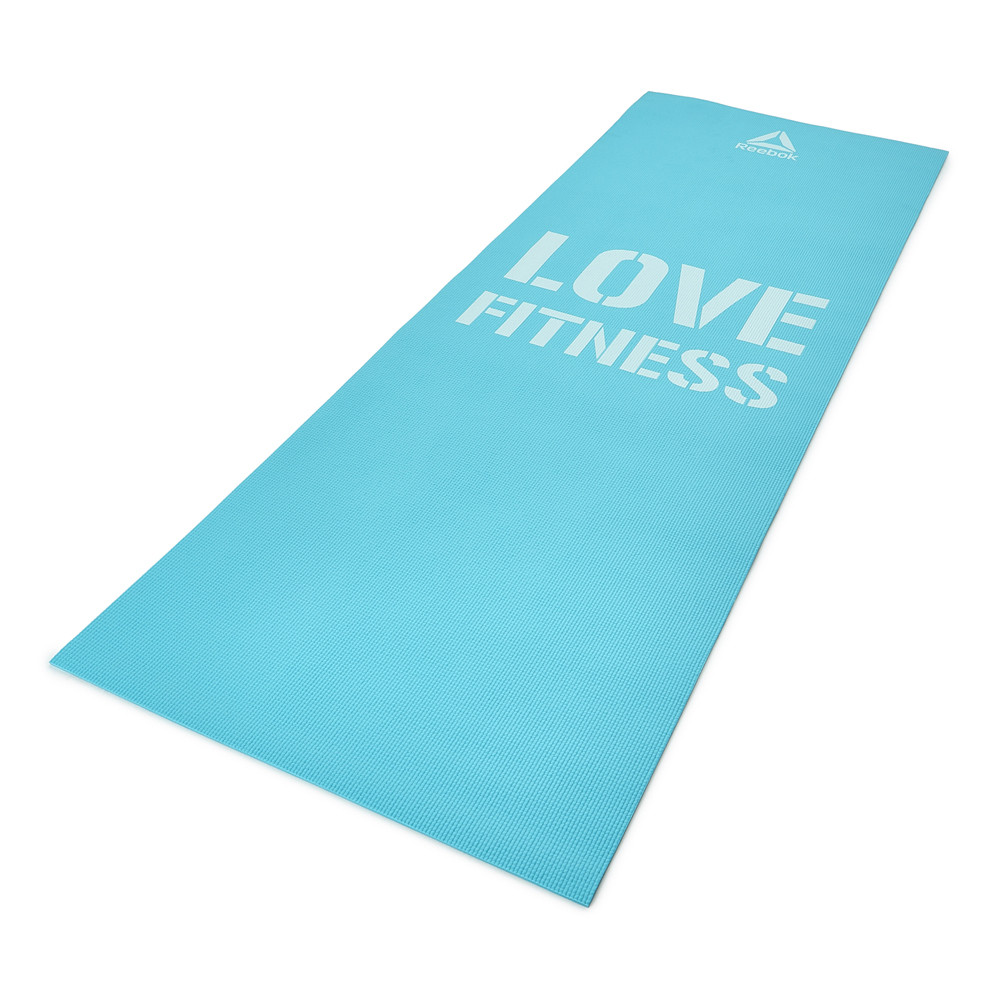 Reebok 'Love Fitness' Blue exercise mat