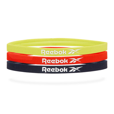 Reebok Sports Hair Bands - yellow, red, navy